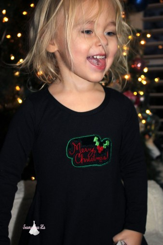 Ellie and Mac merry christmas embroidery design christmas sweetie tunic 3