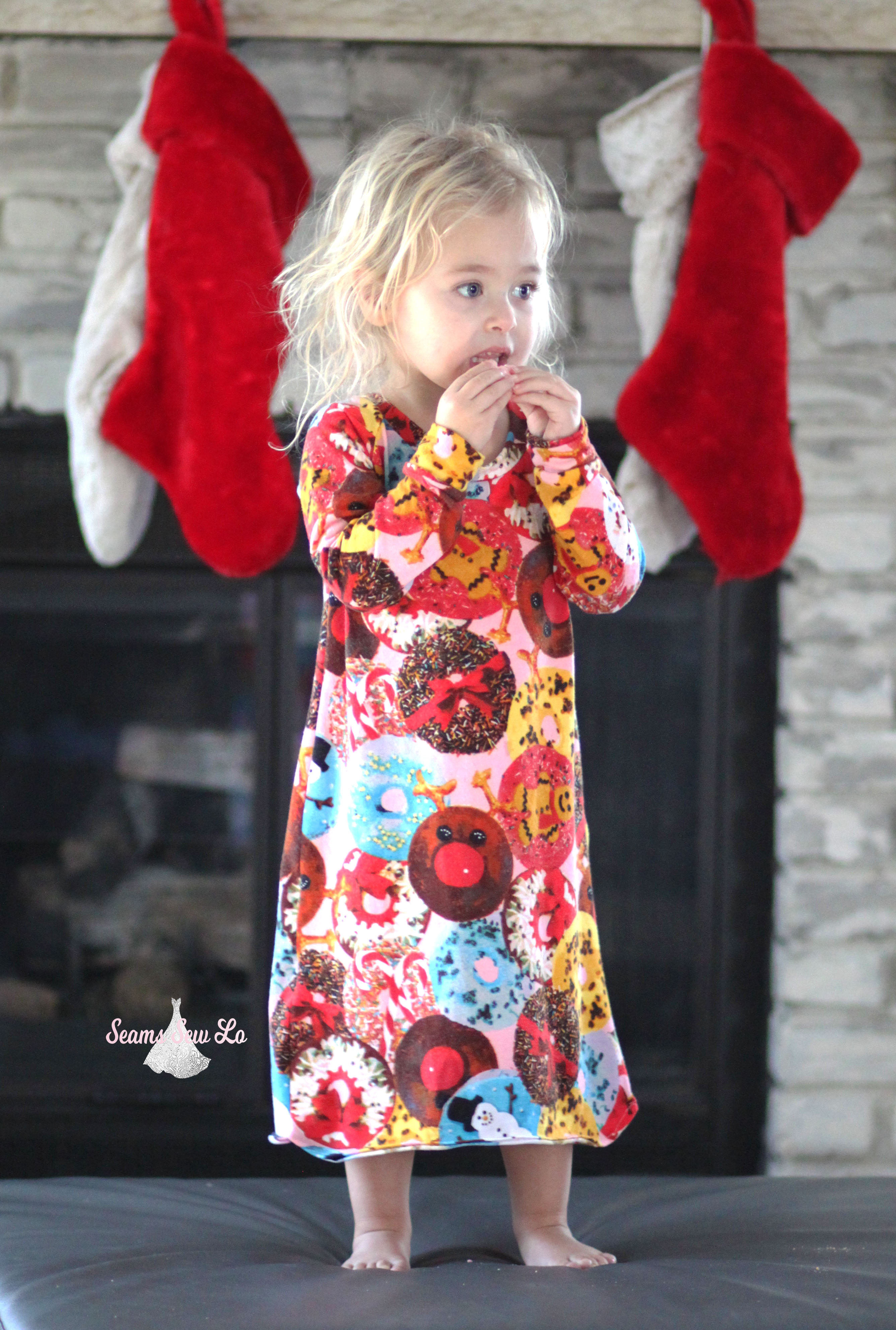 easy girls nightgown sewing pattern seamingly smitten 7