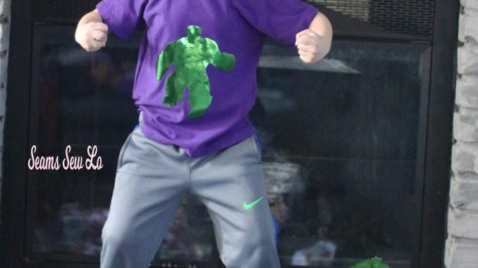 hulk svg vinyl htv foil iron on green metallic boys raglan