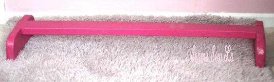pink balance beam diy