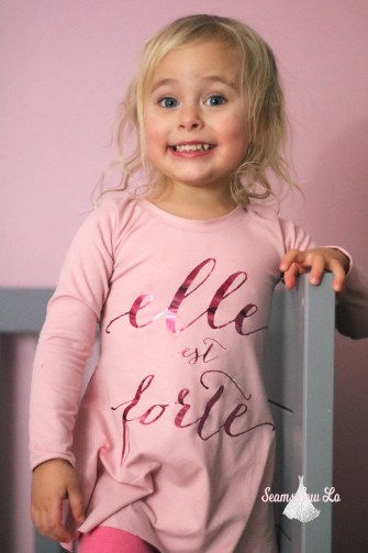 pink elle est forte sweetie dress