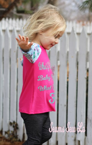 girls spring shirt with butterfly fabric