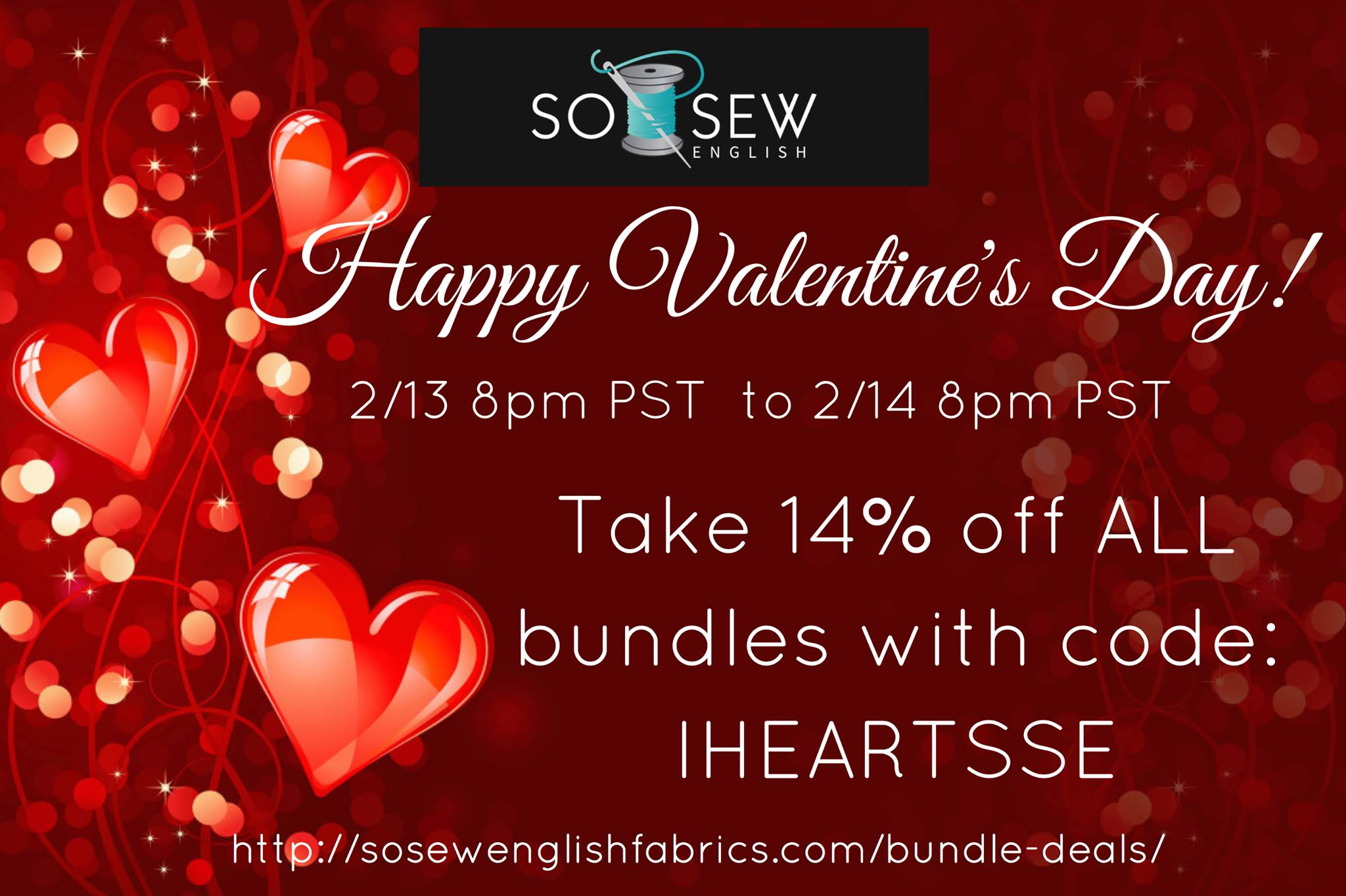so sew english valentines day fabric sale