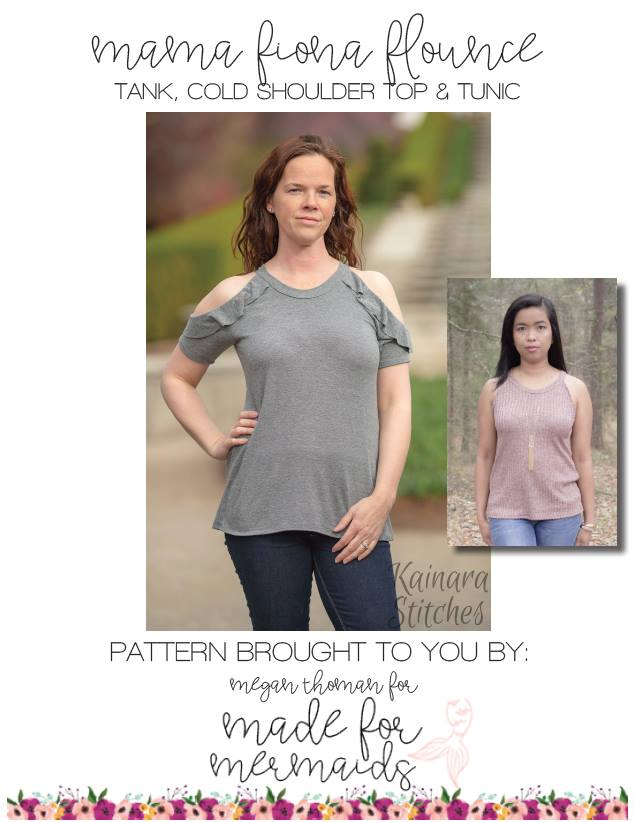 Mama Fiona Cold Shoulder Flounce Top Sewing Pattern Sale