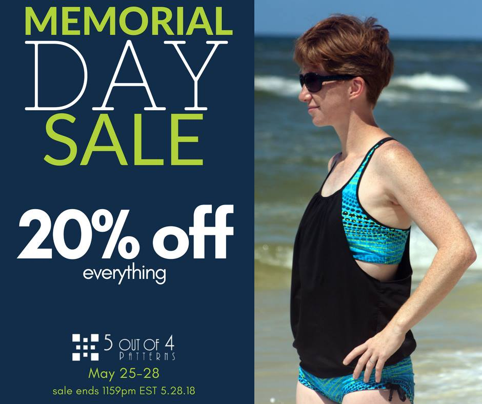 5 Out Of 4 Sewing Patterns Memorial Day Sale