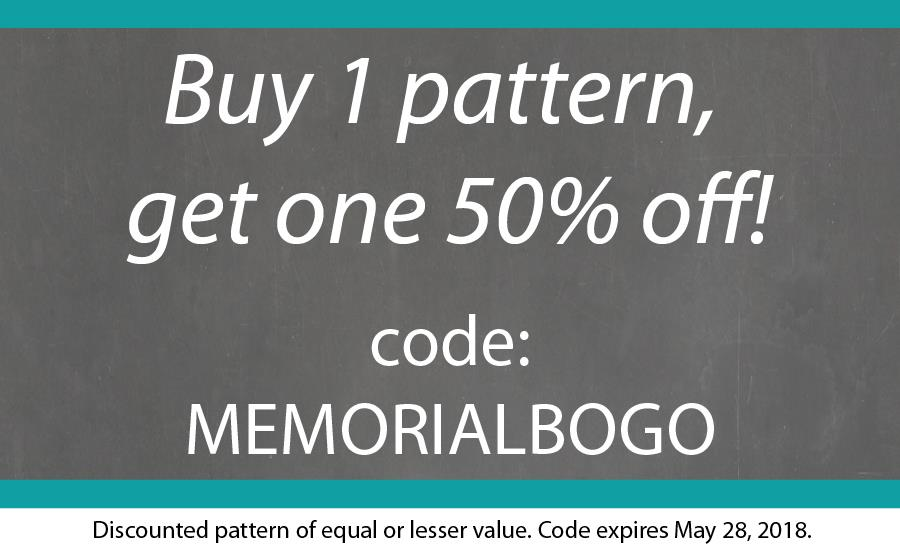 Blank Slate Sewing Patterns Memorial Day Sale