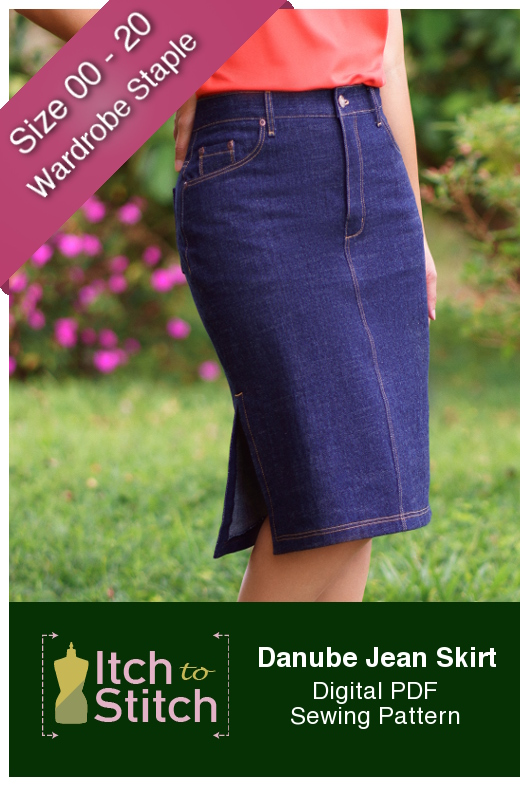 Danube Jean Skirt sewing pattern by Itch to Stitch Release and Sale
