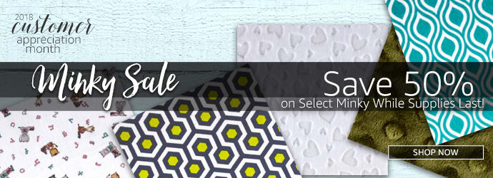 Fabric.com Minky Fabric Sale