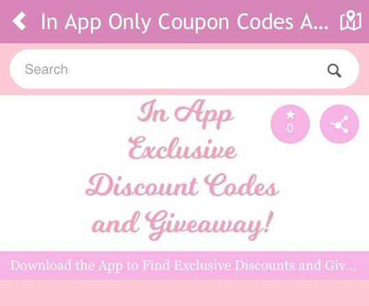 Find Exclusive Sewing Coupon Codes Sales and Giveaway on ... on App That Finds Promo Codes id=67749