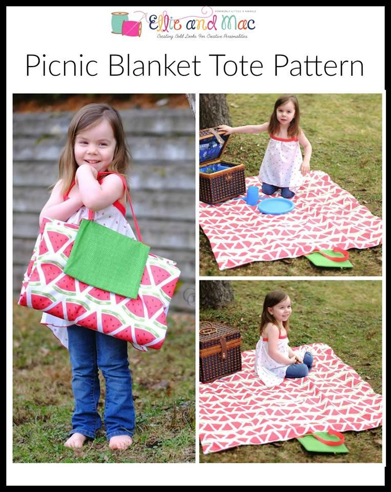 Free Picnic Blanket Tote Sewing Pattern