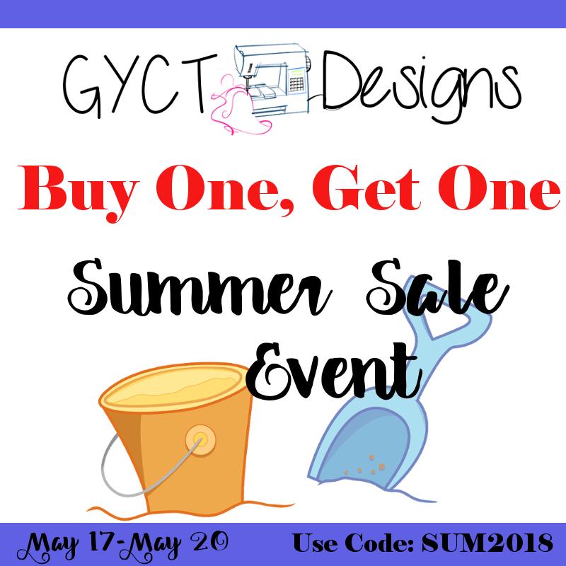 GYCT Designs Sewing Pattern BOGO SALE
