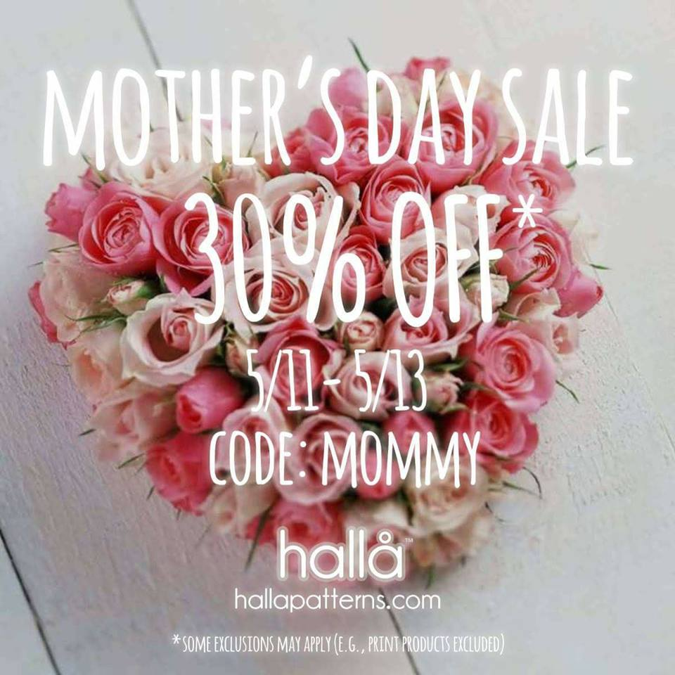 Halla Sewing Patterns Mother's Day Sale