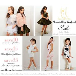 Lil Luxe Collection Sewing Patterns Memorial Day Sale