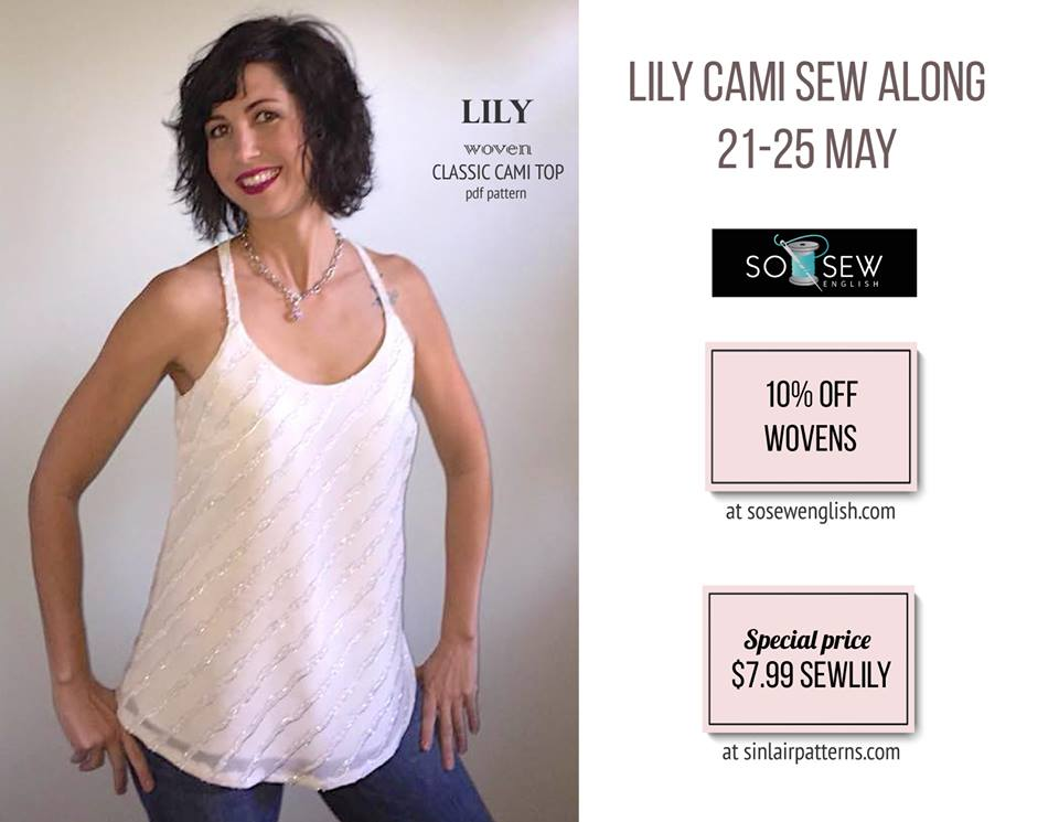 Lily Cami Sewing Pattern Sew A Long by Sinclair Patterns