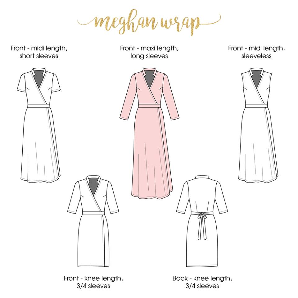 Meghan Wrap Dress Sewing Pattern by Rebecca Page New Release and Sale