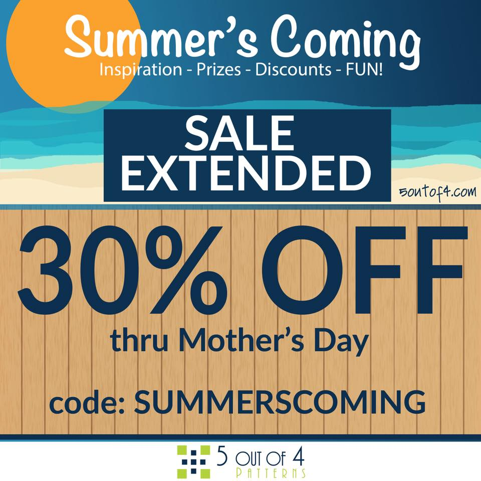 Mother's Day Sale from 5 Out of 4 Sewing Patterns