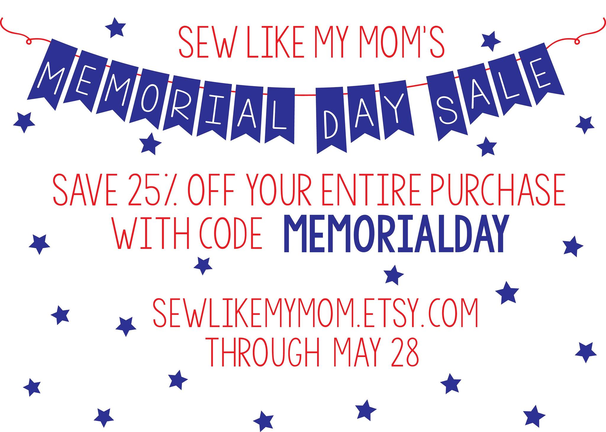 Sew Like My Mom Sewing Patterns Memorial Day Sale