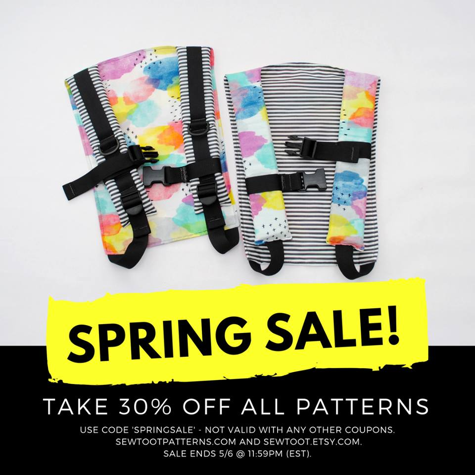 Sew Toot Baby Carrier and Gear Sewing Patterns Spring Sale