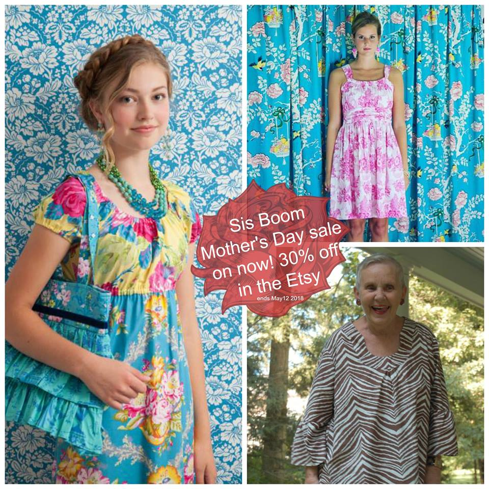 Sis Boom Sewing Patterns Mother's Day Sale