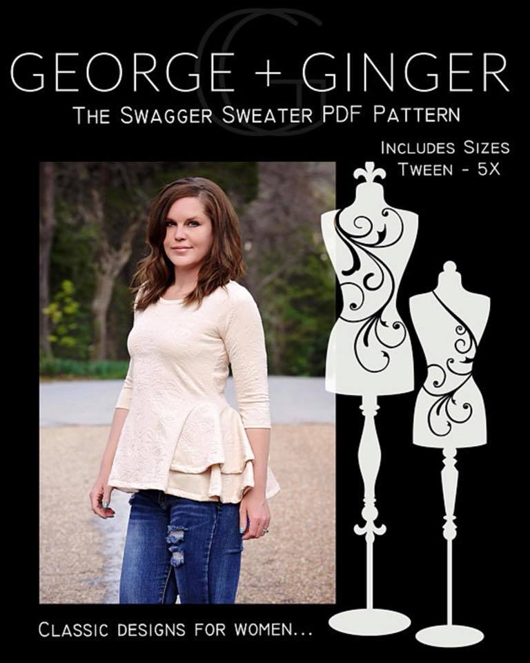 Swagger Sweater Sewing Pattern Update Sale by George + Ginger