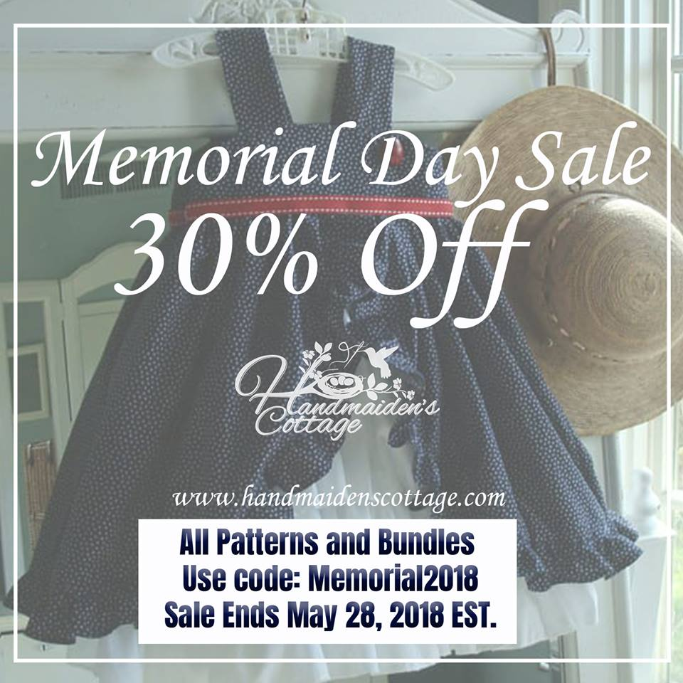 The Handmaiden's Cottage Memorial Day Sale