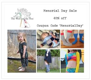 The Wolf and Tree Sewing Patterns Memorial Day Sale