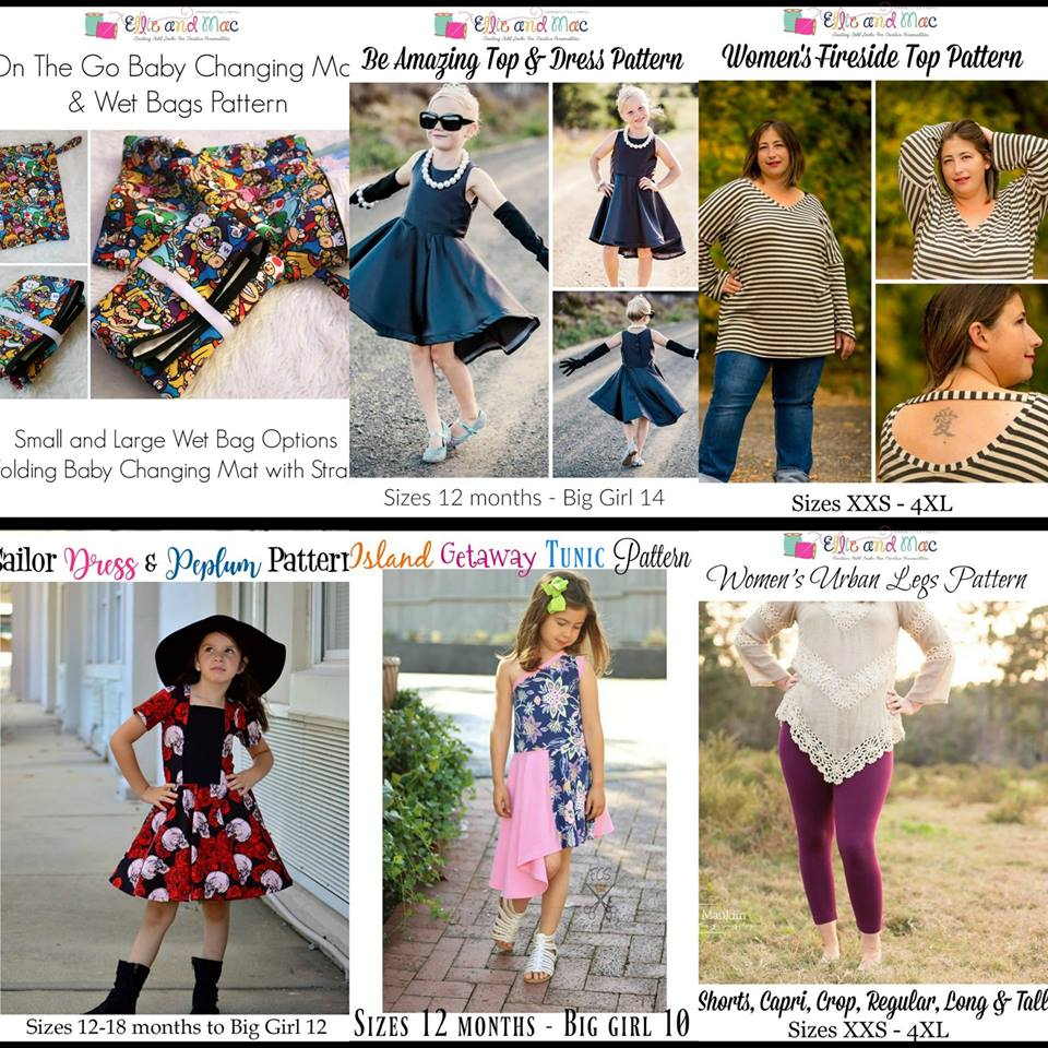 Wacky Wednesday $1 Sewing Pattern Sale by Ellie and Mac May 16th