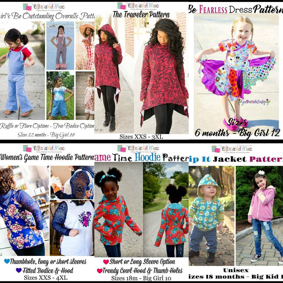 Wacky Wednesday $1 Sewing Pattern Sale by Ellie and Mac May 9th