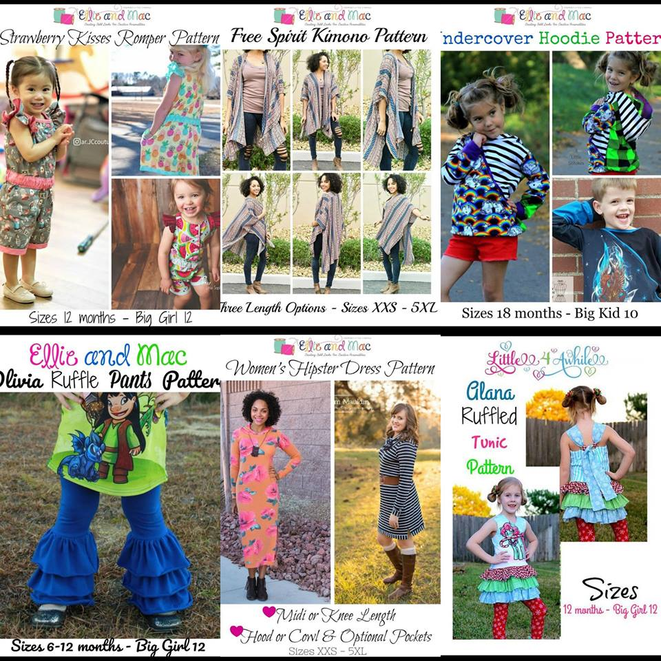 Wacky Wednesday $1 Sewing Pattern Sale by Ellie and Mac