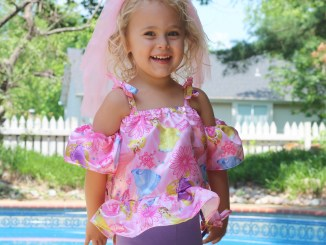 eam summer love girls off the shoulder top and dress sewing pattern