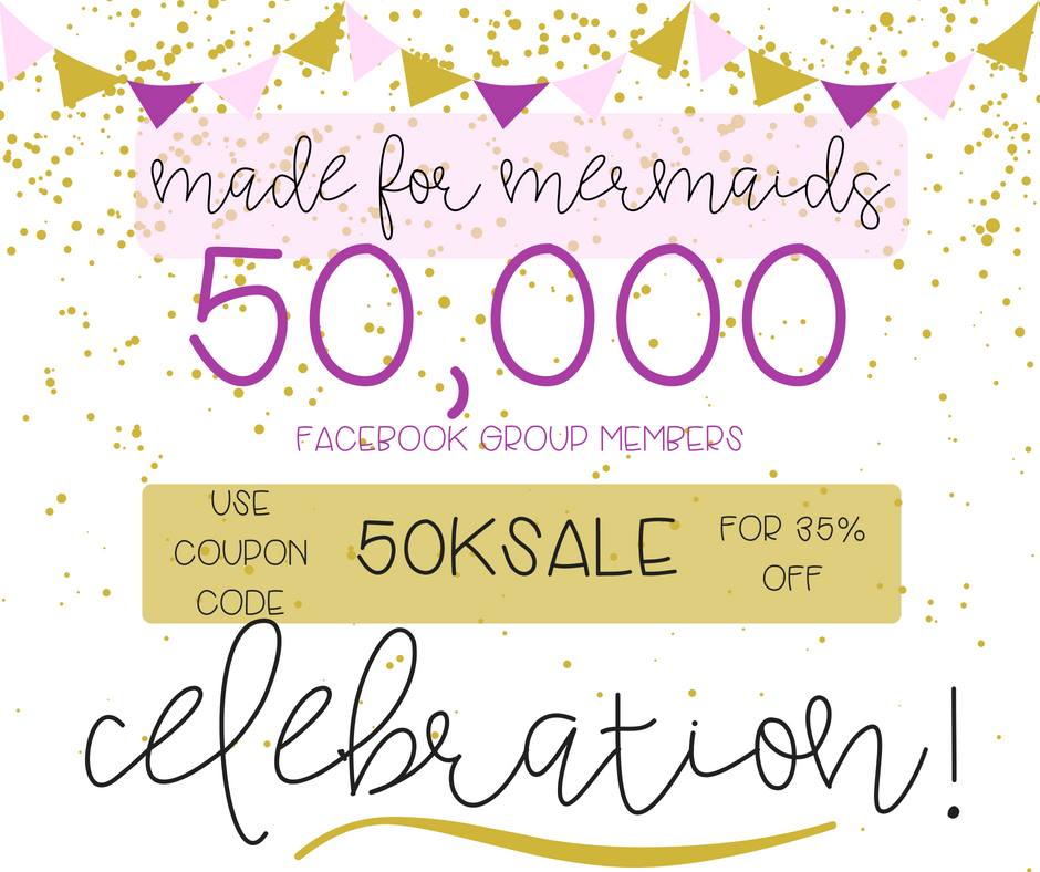 Made for Mermaids Sewing Patterns Sale! 50,000 Member Celebration!