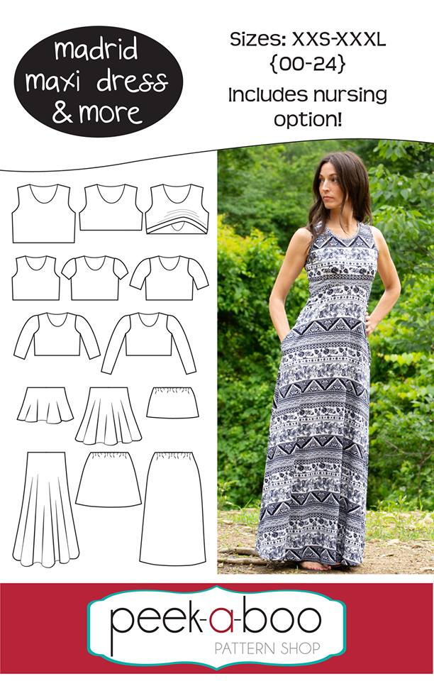 Madrid Maxi Dress Sewing Pattern Release and Sale