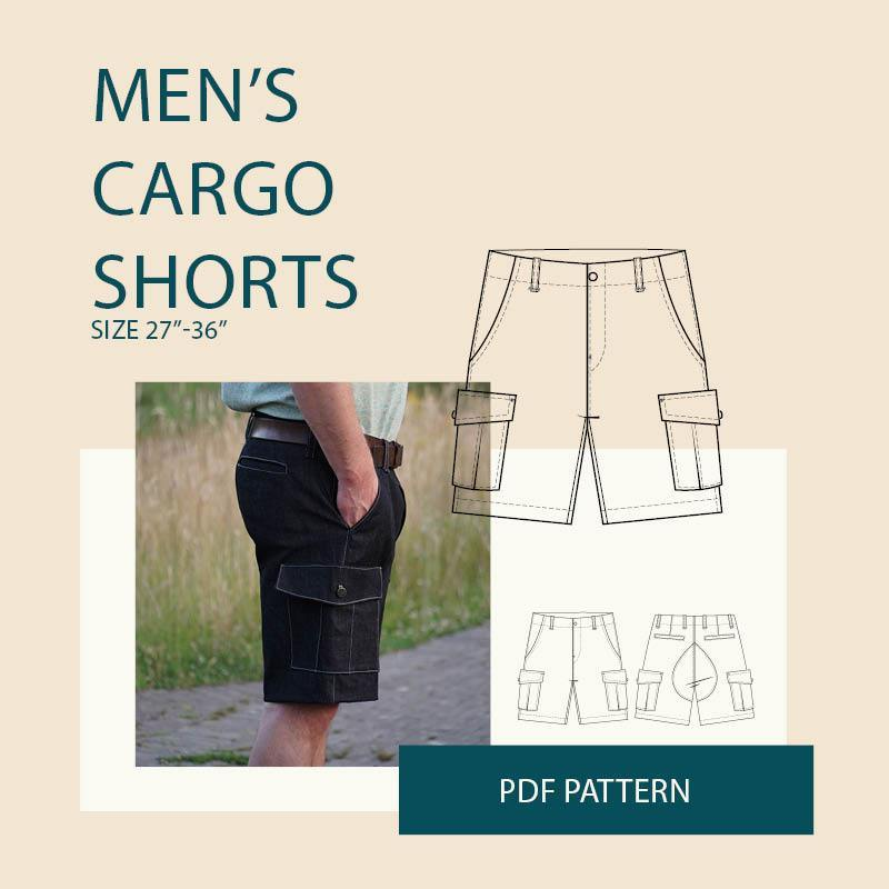 Mens Cargo Shorts Sewing Pattern Release and Sale