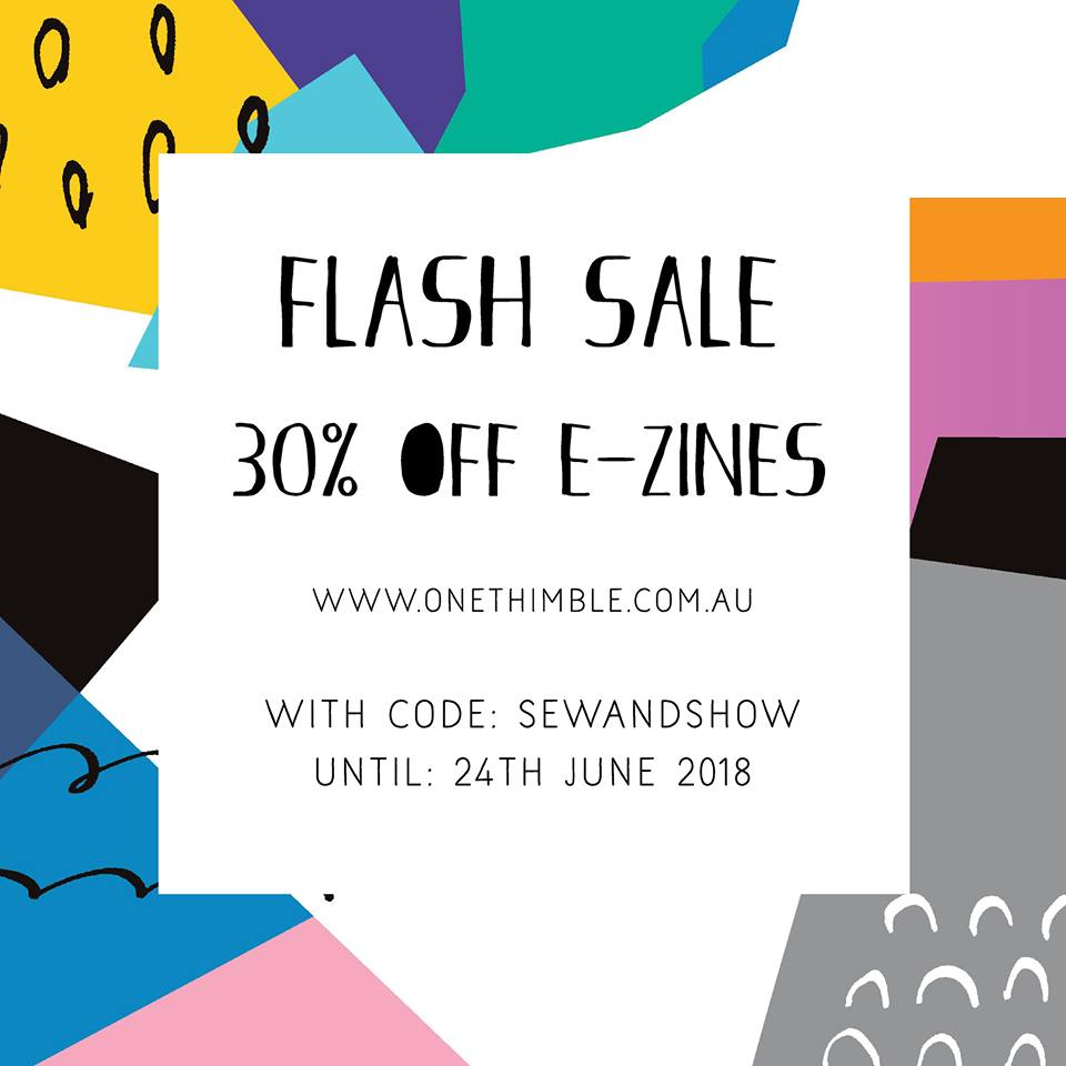 One Thimble Sewing Magazine Ezines Flash Sale!