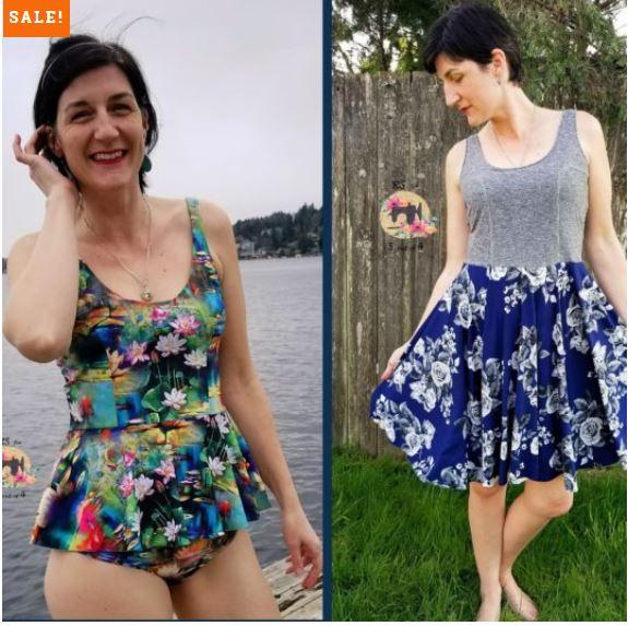 Rosanna Tank, Tankini, Dress, and Swim Dress Sewing Pattern Release and Sale