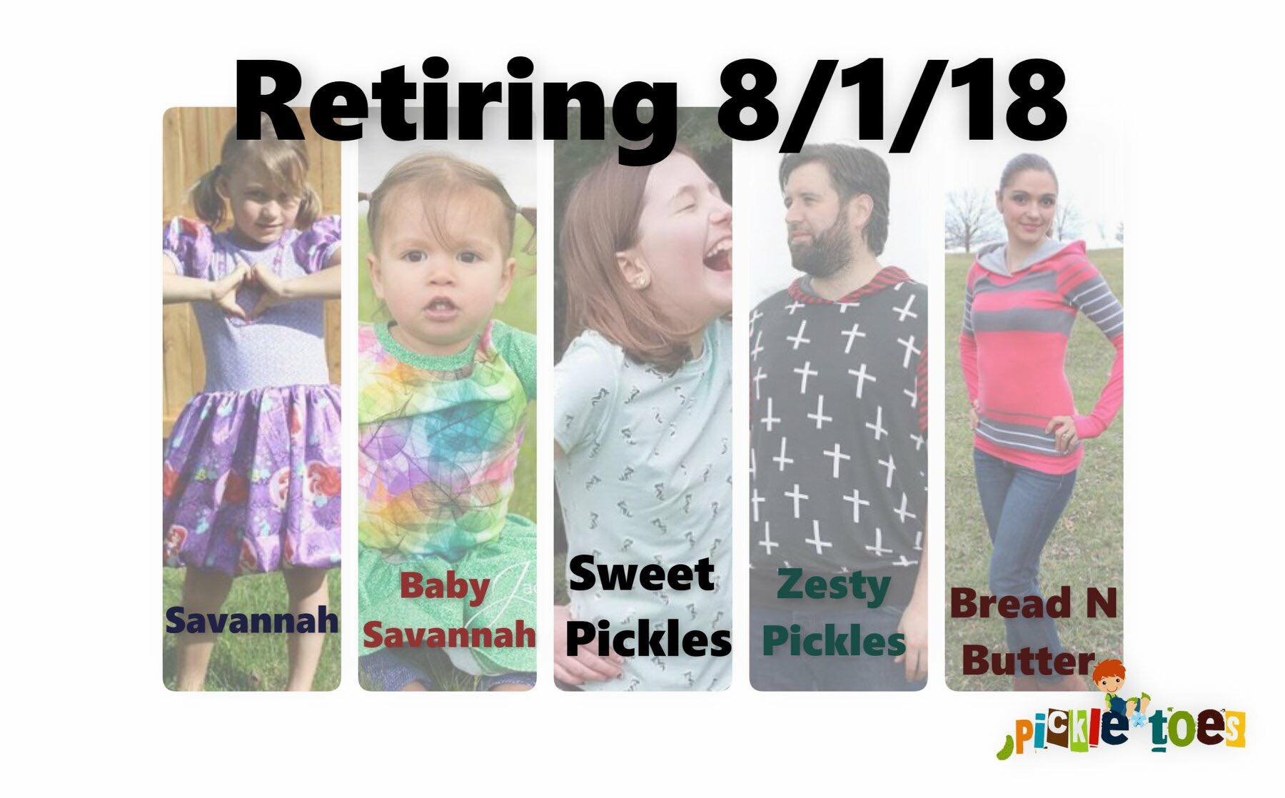 Sewing Pattern Retirement Sale at Pickle Toes Patterns