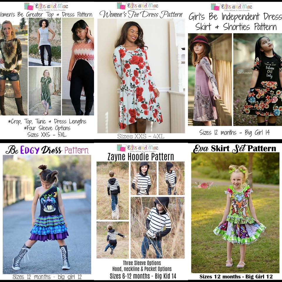 Wacky Wednesday $1 Sewing Patterns by Ellie and Mac June 27