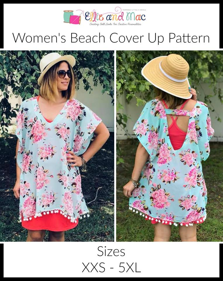 Women's Beach Swimsuit Cover Up Sewing Pattern Release and Sale