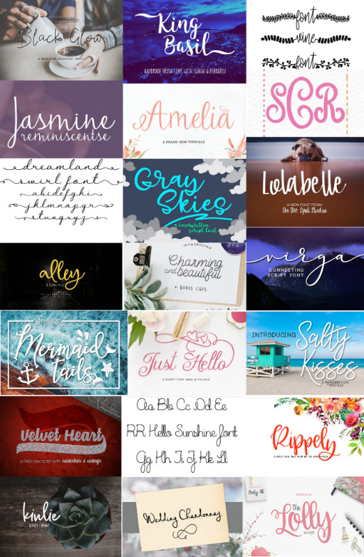 Beautiful Script Font and SVG Bundle Sale