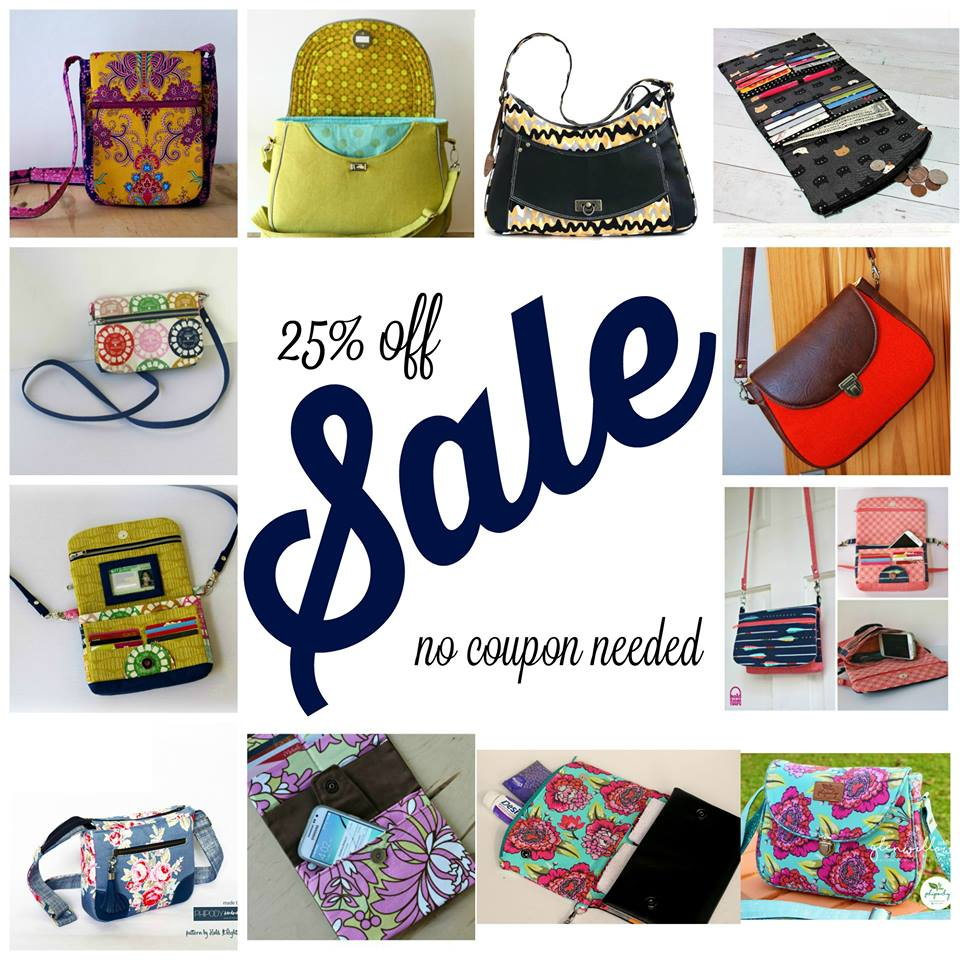 Hold It Right There Bags 25% Off Sewing Pattern Sale