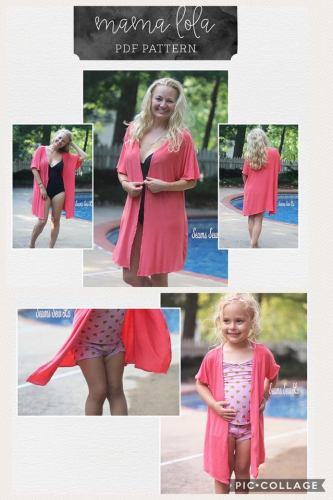 Mommy and Me Matching Swimsuit Cover Up Sewing Patterns by M4M