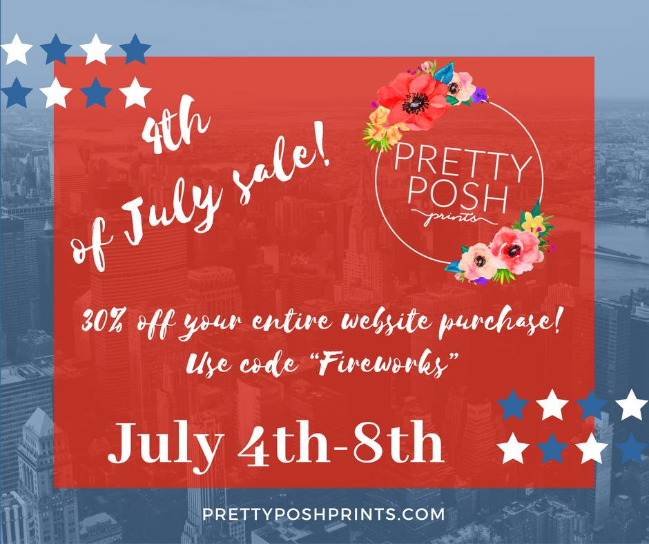 Pretty Posh Prints 4th of July Fabric Sale