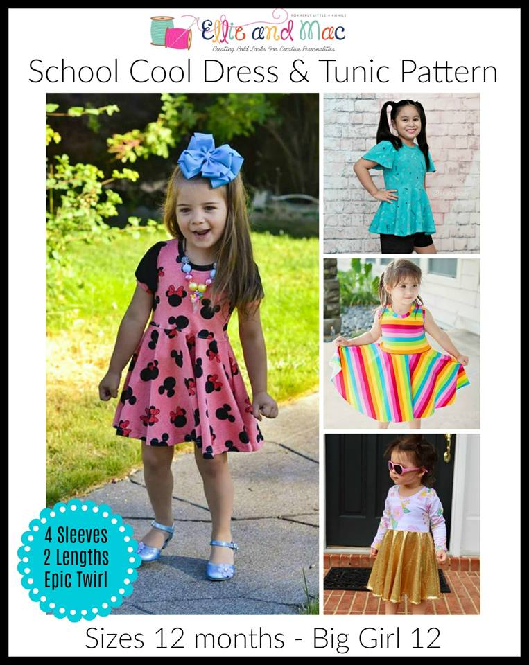 School Cool Girl's Dress & Tunic Sewing Pattern Release and Sale