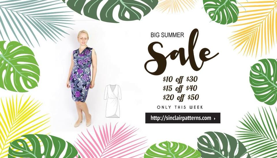 Sinclair Patterns Big Summer Sewing Pattern Sale