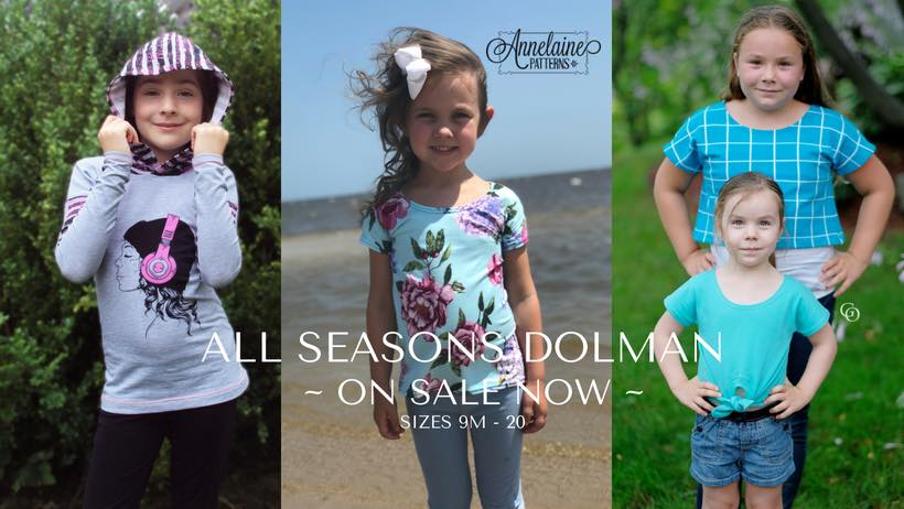 All Seasons Dolman Sewing Pattern Release and Sale by Annelaine Patterns