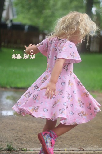 Back to School Dress Sewing Pattern School is Cool by Ellie and Mac Twirling