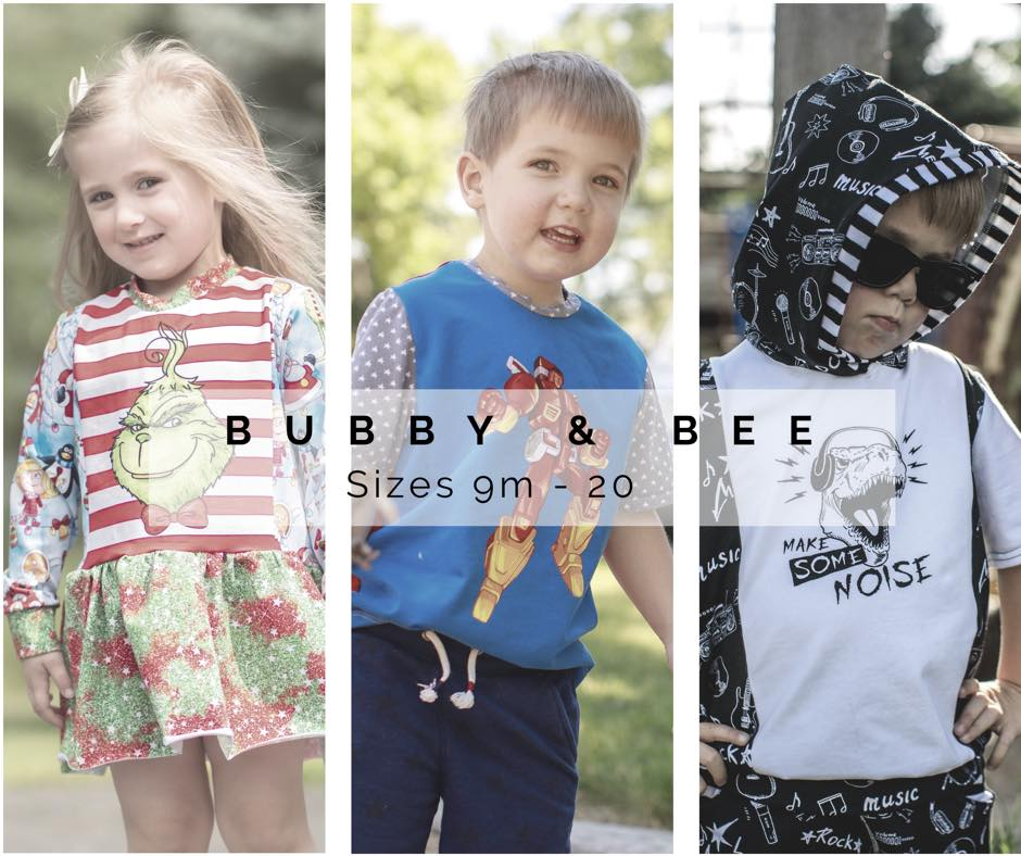 Bubby and Bee Sewing Pattern Sale by Annelaine Patterns