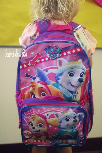 Girls Paw Patrol Back Pack with Skye and Everest