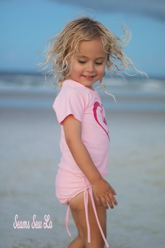Little Girls Rash Guard Swimsuit Sewing Pattern