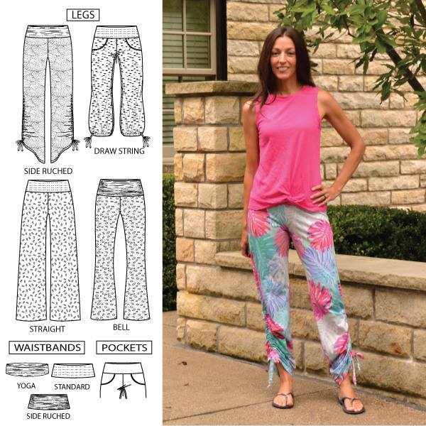 60d2fef81d Shakti Jersey Pants Sewing Pattern Release and Sale. Designer Stitch ...